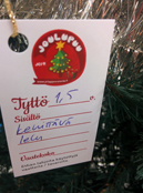 Joulupuu pakettikortti